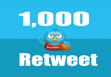Give you Instant 1,000+ UK Twitter retweets