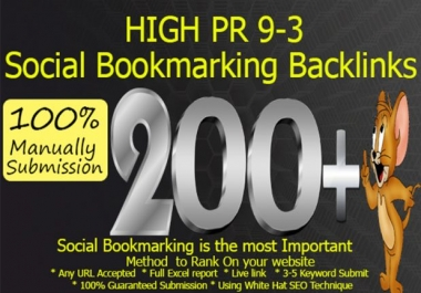 Submit Your Website 200+ SEO High Quality Social Bookmarking Backlinks