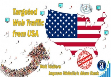 send targeted organic traffic from USA