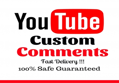 add 100 youtube video related custom comments