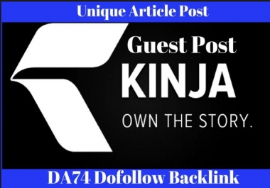 Guest Post On Kinja