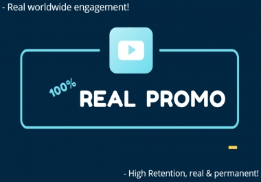 do viral organic youtube views promotion