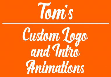 create a custom logo and intro video animation
