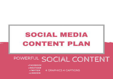 create a social media content plan with