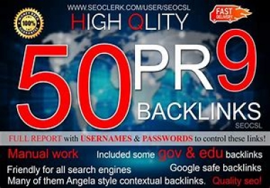 Provide Over 20,000 High Quality Live SEO Backlinks