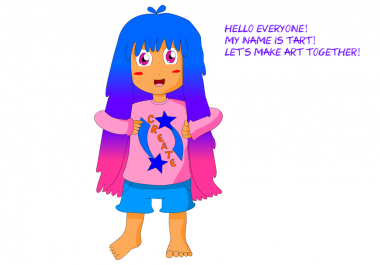 draw a colored character pic