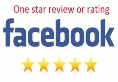 Add 50 Facebook 1 star rating or reviews on your page