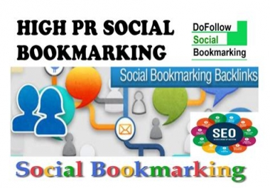 do 100 high pr SEO bookmarking backlinks