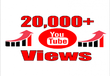 provide you high quality 20,000+ YouTube Video views