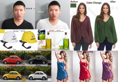 Do 3 Color Changing, Color Replacing, Color Matching In Photoshop Photo Editing Retouching
