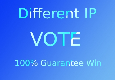 Give 100 real votes on your online contest voting