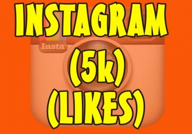 Deliver 5000 Instagram likes