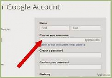 creat gmail,facebook,tweeter or any kind of account