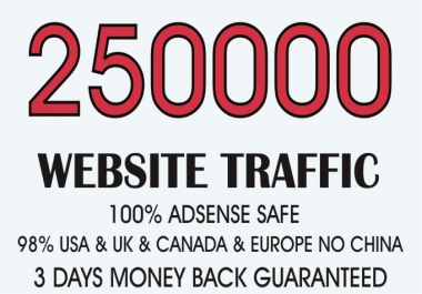 Generate 250,000+ Web Traffic For Your Site