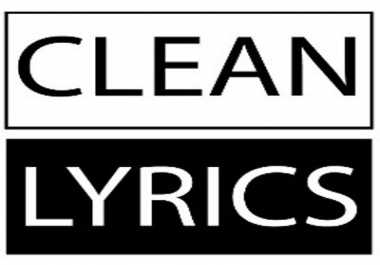 create a clean version of a song.