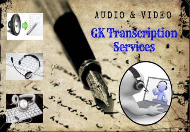 Transcribe 30 Minutes Of Audio Or Video File Accurately