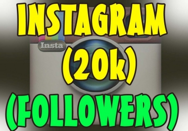 Deliver 20,000 Instagram followers.