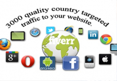 Provide 1000  dailySocial,Organic,Mobile Traffic Your Website for 30 days