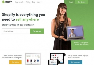 build and design dropshipping shopify store from scratch