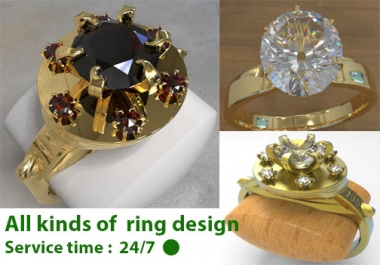make all kinds of professional jewelry design