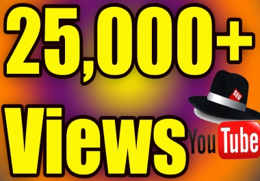 Give You High Quality 25,000+YOU TUBE views