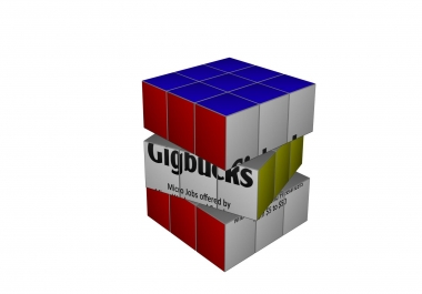 create Rubik Cube animation