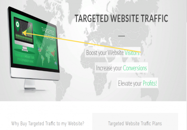 GIVE TARGETED real human Website TRAFFIC for 6 months