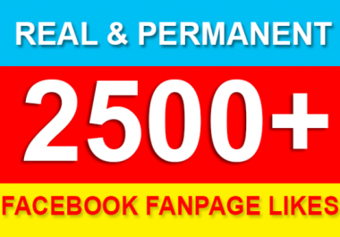 give you 2500+ real Facebook fanpage likes