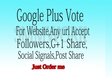 Get 110+ Google plus share or Google post +1