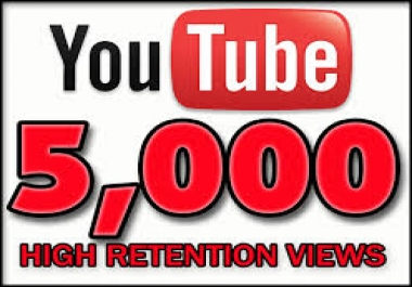 Provide 5,000 YouTube Views LIFETIME GUARANTEE