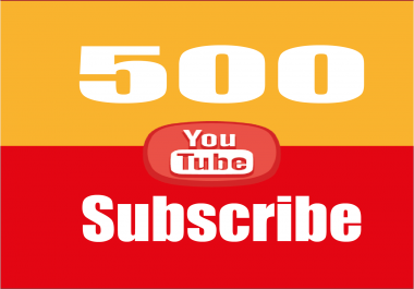 provide 500 Youtube subscribers to your channel