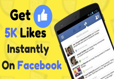 Provide 5k Facebook real Post Likes