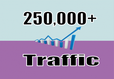 GIVE YOU 250,000 WEBSITE TRAFFIC