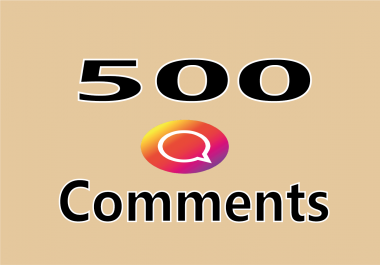 add 500 Instagram custom comments for your post