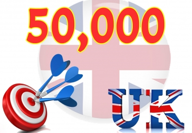 Give you 50,000 Real/Human/Unique UK Visitors safely.