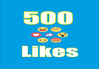 Provide you 500 Facebook Emoticons Photo/Post Likes