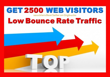 Drive 2,500 Low Bounce Rate USA Targeted Traffic