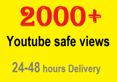 Add 2000+ YouTube Views High Retention Non Drop