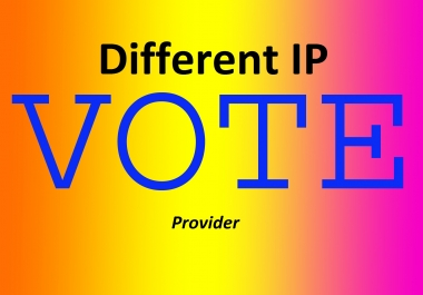 Add different 100 Targeted country ip votes on your online poll voting contest