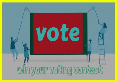 Provide you 100 vote for any online contest