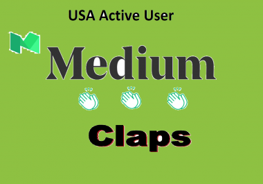 Provide You 500 Real USA Active People Medium Claps To Your Post