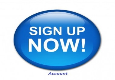 Provide you 30 real signups account