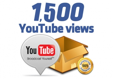 Provide 1500+ High Quality Views instant Start