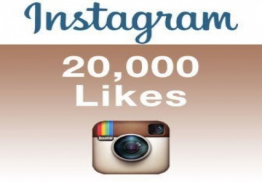 Add 20,000 Instagram Photos/Post Likes, 100% non drop