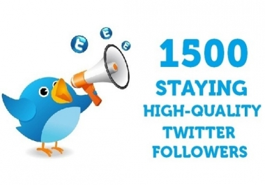 add 1,500+ High Quality Twitter followers