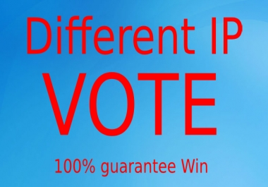 Give you 500 Real online contest votes for any website
