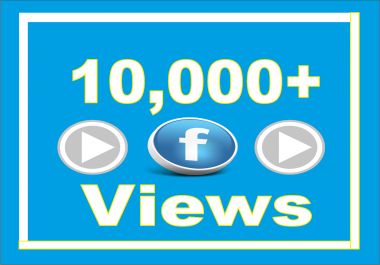 Add Real Fast 10k (10,000) Facebook Video Views