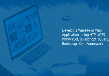 develop a website or web application for you