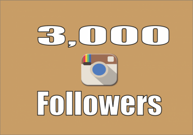 Give 3000+ High Quality Instagram Followers