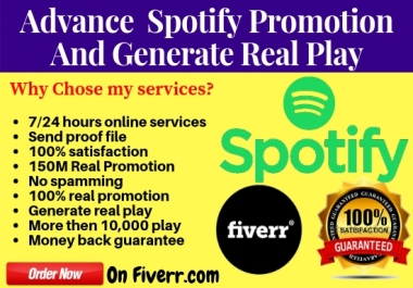 Do Spotify Promotion And Give You 10,000 Real Spotify Music Play